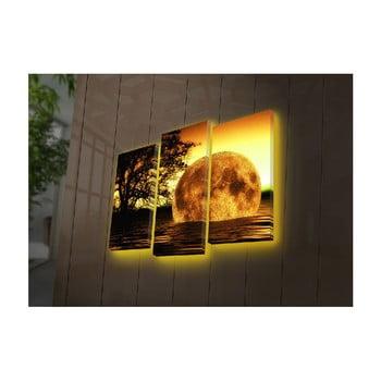 Tablou din 3 piese cu LED-uri Adrasteia de la Unknown