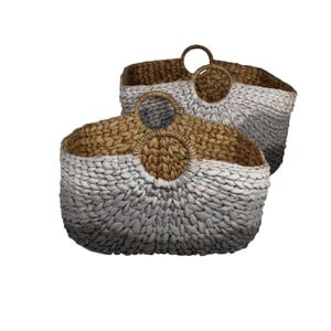 Sada 2 pletených košů z vodního hyacintu HSM Collection Water