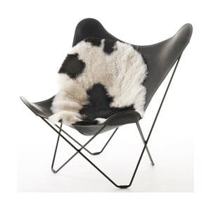 Kožešina z islandské ovce White Black, 100x60 cm
