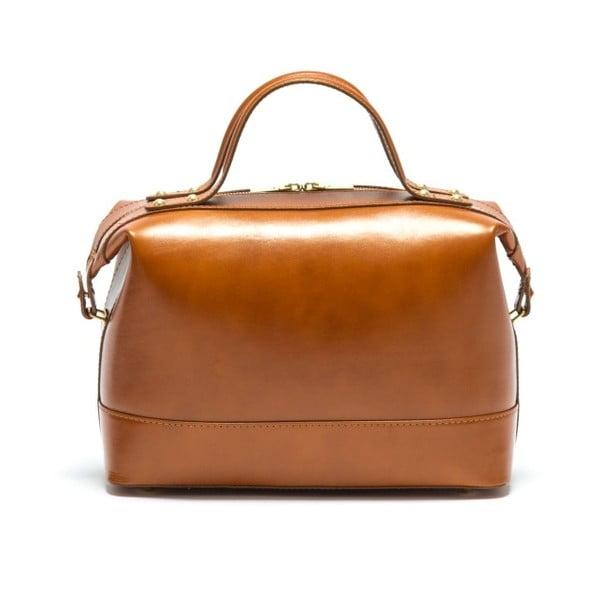 Kožená kabelka Anna Luchini 355L Cognac
