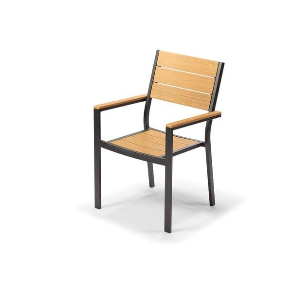 Jasnobrązowe krzesło ogrodowe Timpana Panto