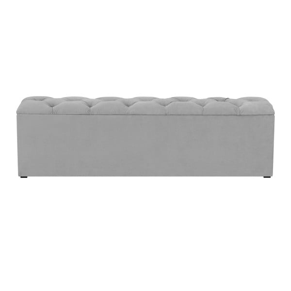 Bancă pentru pat cu spațiu de depozitare Kooko Home Manna, 47 x 200 cm, gri