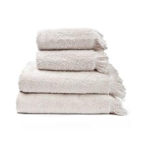 Sada 2 krémových ručníků a 2 osušek ze 100% bavlny Bonami, 50x90 + 70x140 cm