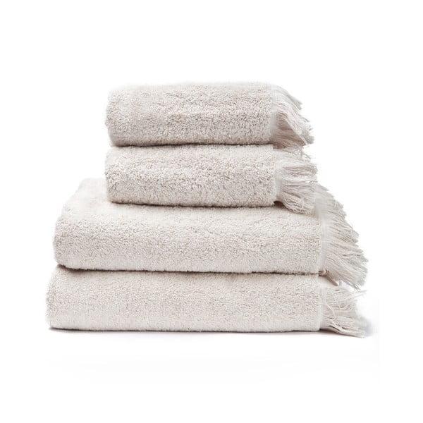 2-2 db 100% pamut krémszínű törölköző és fürdőlepedő, 50 x 90 + 70 x 140 cm - Bonami