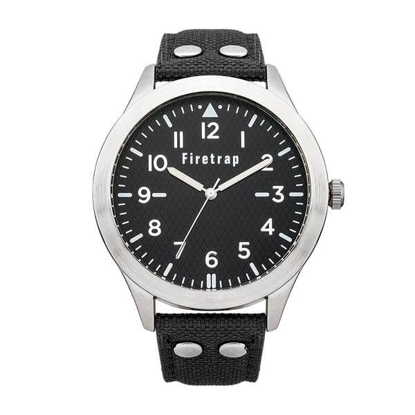 Pánské hodinky Firetrap Gents Black Strap/Black Dial, 45 mm