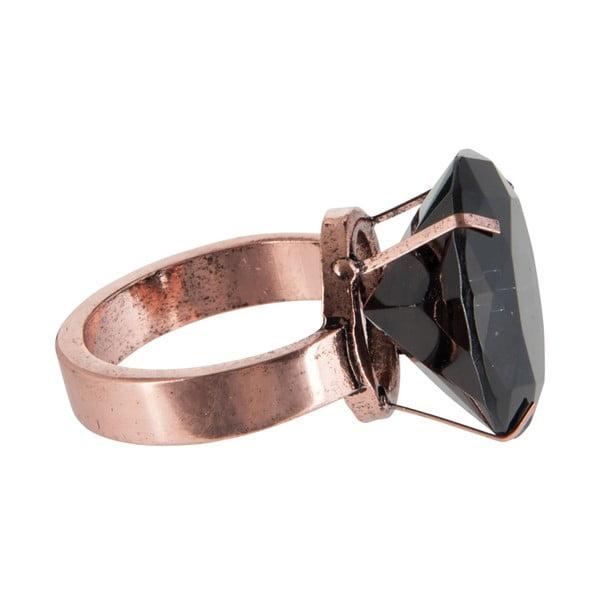 Ozdobný prsten na ubrousky J-Line Black Ring