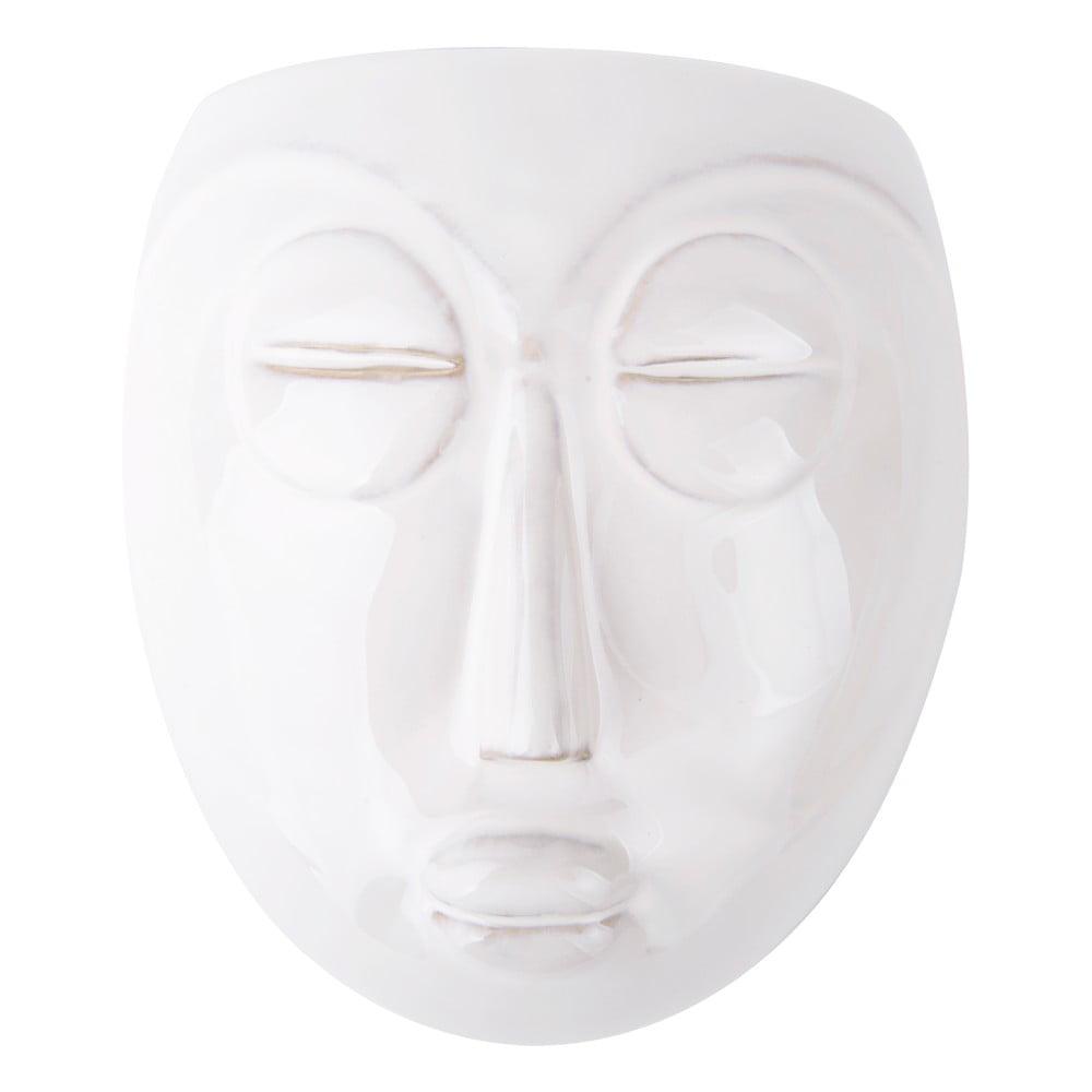 Bílý nástěnný květináč PT LIVING Mask, 16,5x17,5cm