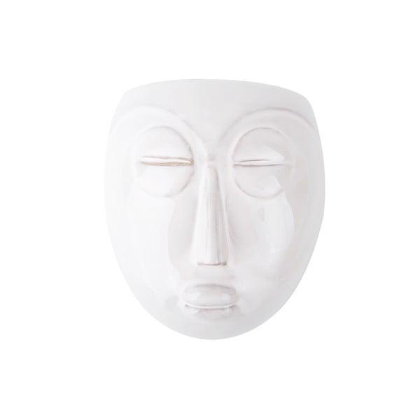 Biała doniczka ścienna PT LIVING Mask, 16,5x17,5 cm