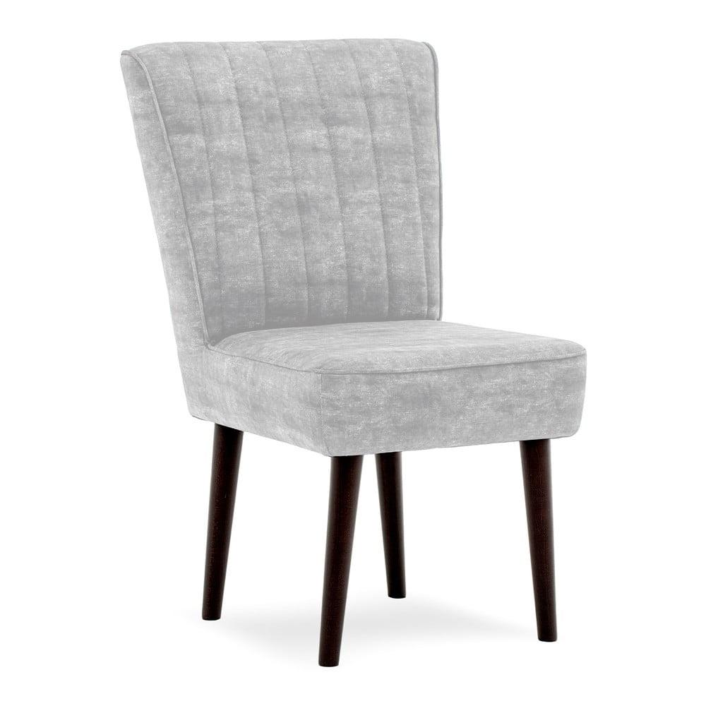 Šedá čalouněná židle Vivonita Leila