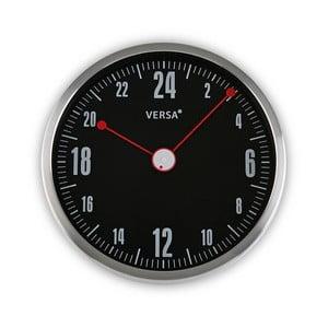 Černé kulaté nástěnné hodiny Versa Inga, ø30cm