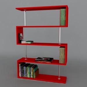 Knihovna Sunrise Book Red, 22x90x129 cm
