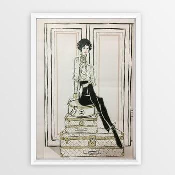 Tablou cu ramă Piacenza Art Chanel Suitcases, 23 x 33 cm