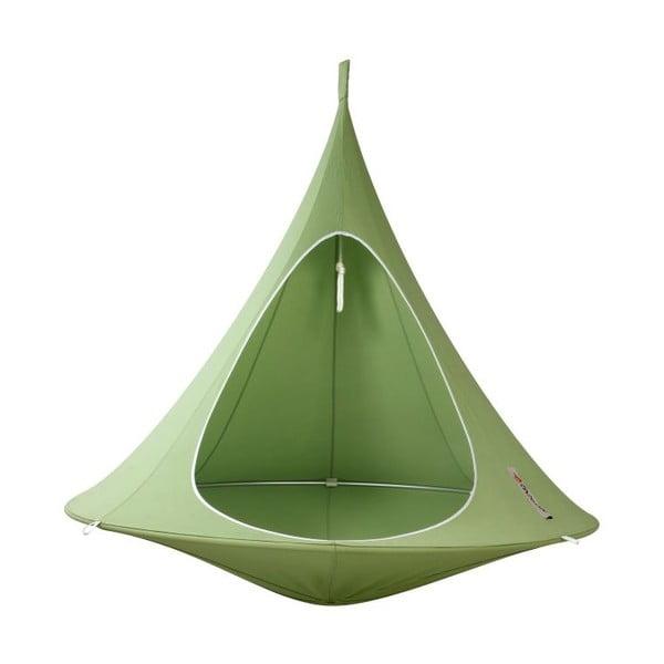 Zelené závěsné křeslo pro dva Cacoon Double