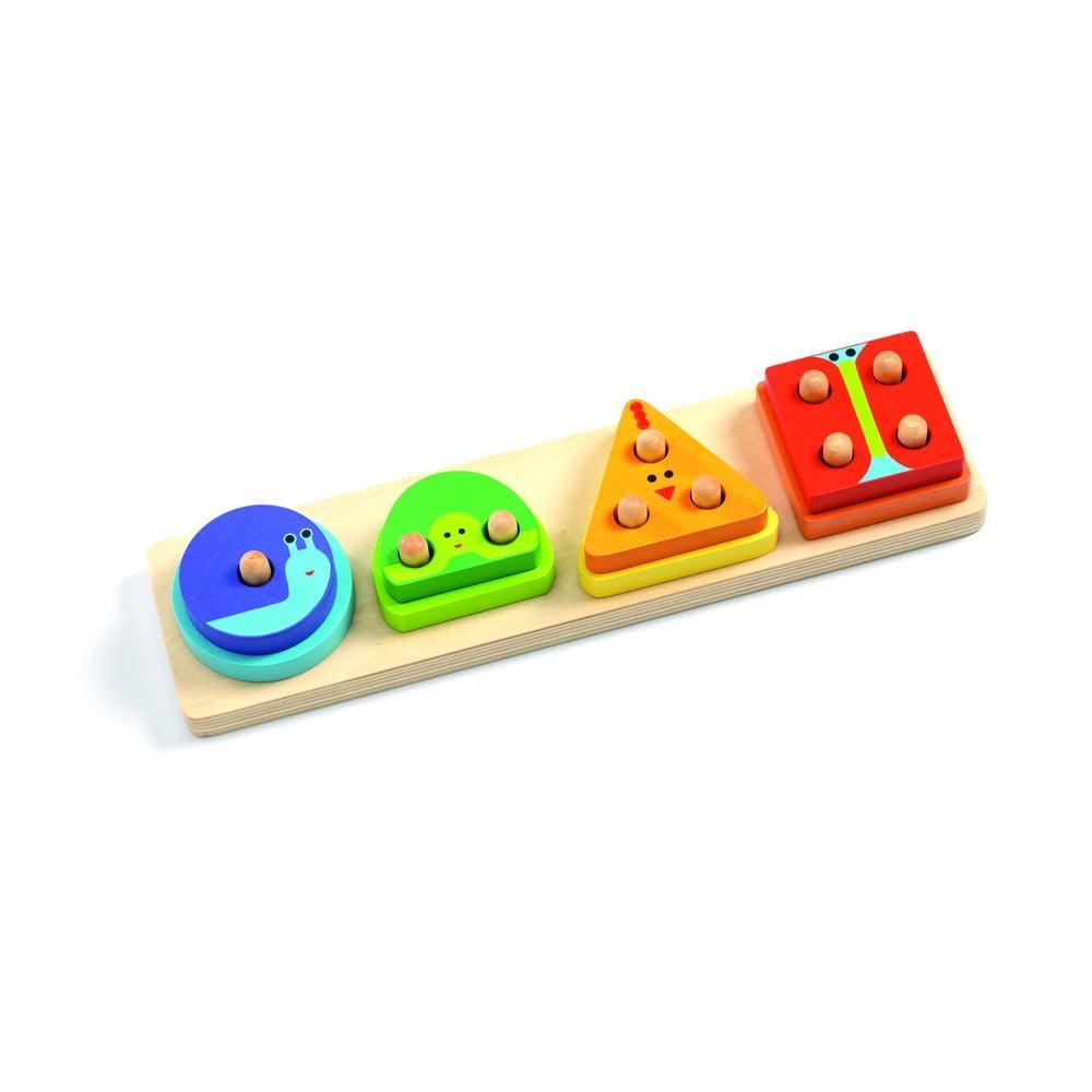 Dětské dřevěné puzzle na podstavci Djeco Quatro