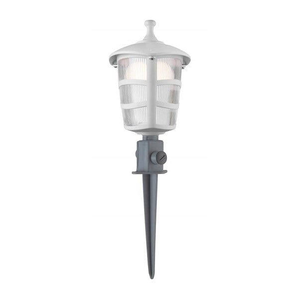 Bílé zahradní svítidlo LED Art Deco