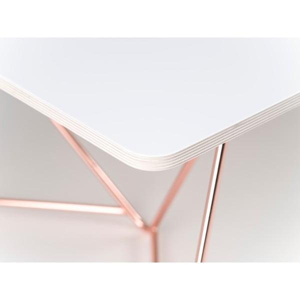 Deska konferenčního stolu Flat Coffee - bílá, 110x70 cm
