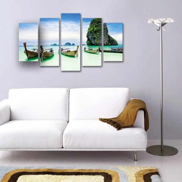 5dílný obraz Plážový ráj