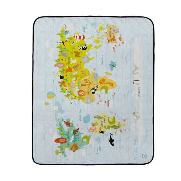 Koc piknikowy Butter Kings World Map, 180x145 cm