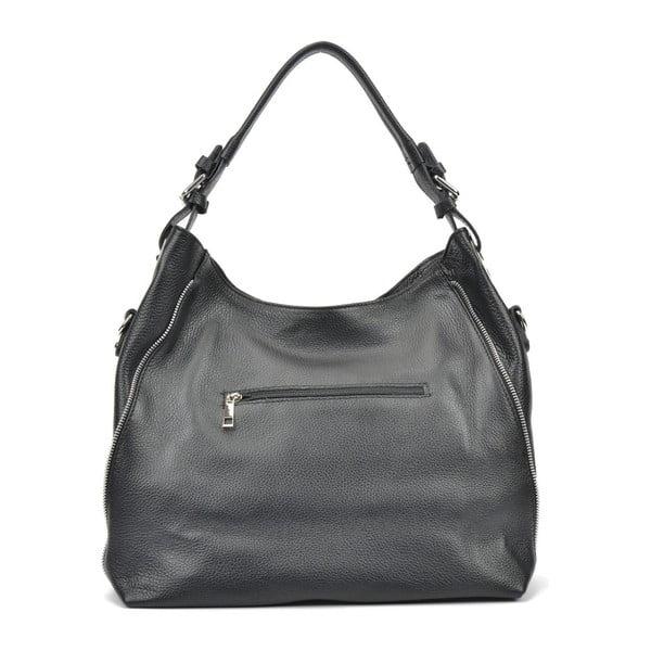 Černá kožená kabelka Mangotti Bags Iris