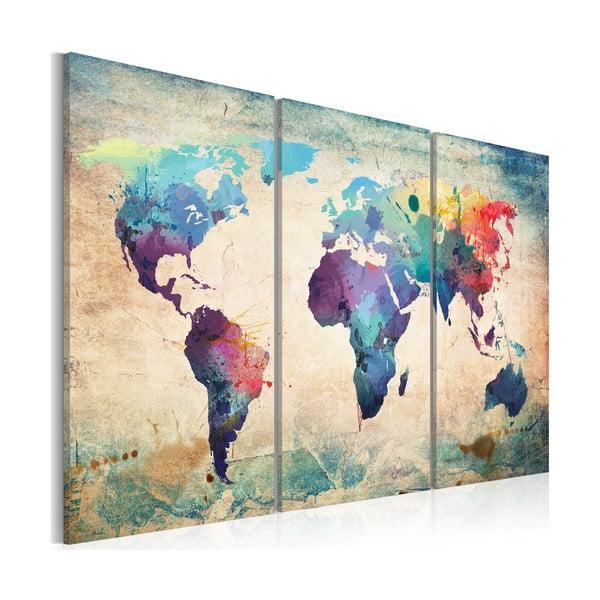 Tablou pe pânză Bimago Rainbow Map 120 x 80 cm