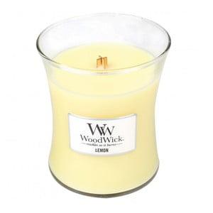 Lumânare parfumată WoodWick, aromă de lămâie, 275 g, 60 ore