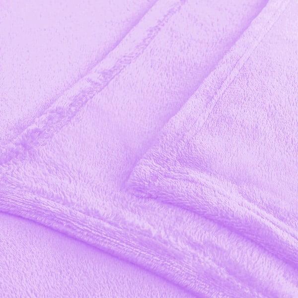 Fialová deka z mikrovlákna DecoKing Mic, 160 x 210 cm