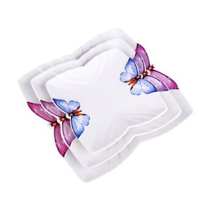 Sada 3 talířů Butterfly