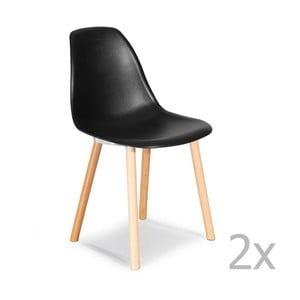 Sada 2 černých židlí Garageeight Sierra