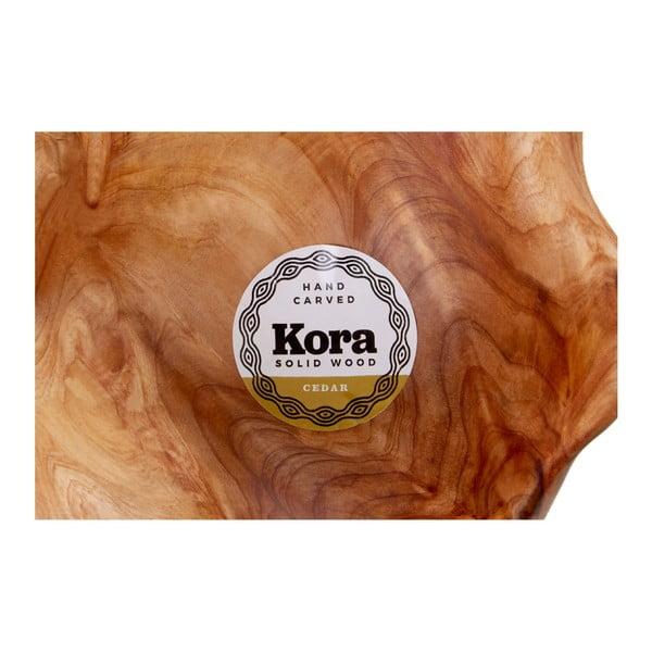 Servírovací mísa z cedrového dřeva Premier Housewares Kora, ⌀ 19 cm
