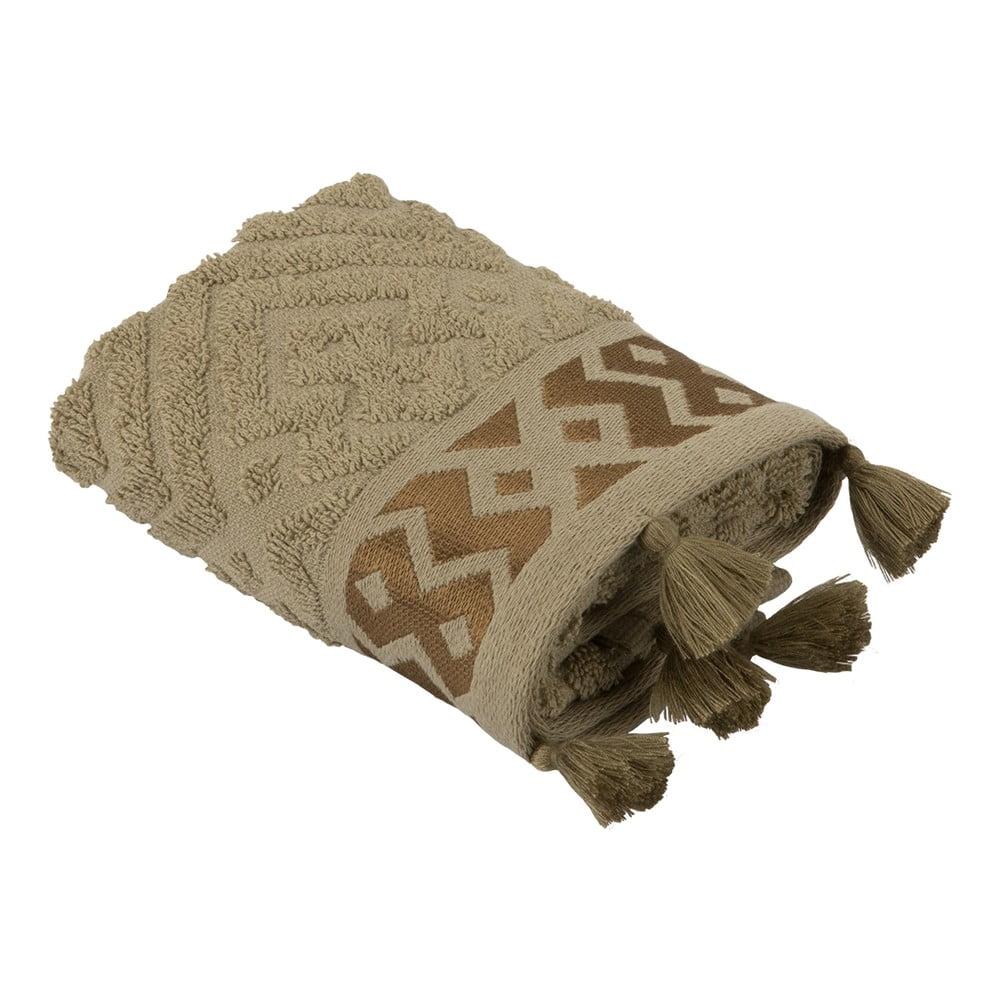 Sada 2 hnědých bavlněných ručníků Bella Maison Mosaic, 30 x 50 cm