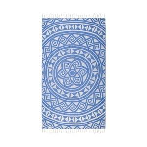 Prosop baie hammam Kate Louise Mirabelle, 165 x 100 cm, albastru