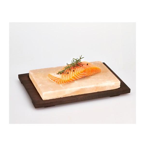 Taca do serwowania z deską solną Bisetti Salt Plate, 20x30 cm