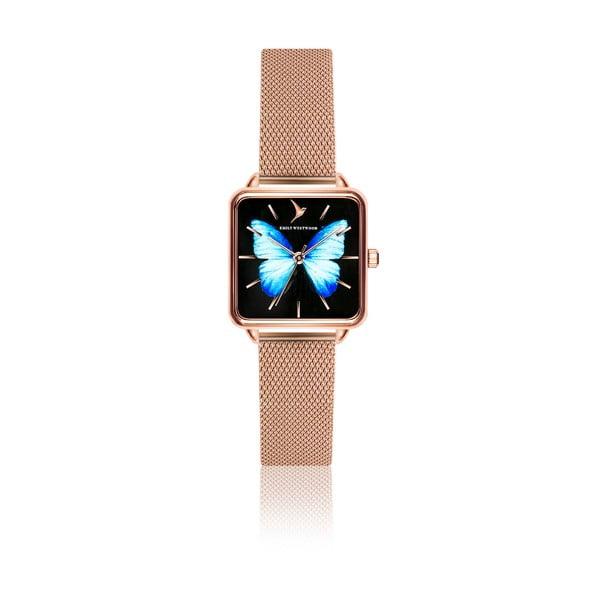 Dámske hodinky s remienkom z antikoro ocele v ružovozlatej farbe Emily Westwood Brigitte