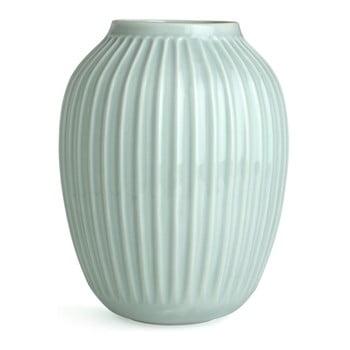 Vază înaltă din gresie ceramică Kähler Design Hammershoi, verde mentă