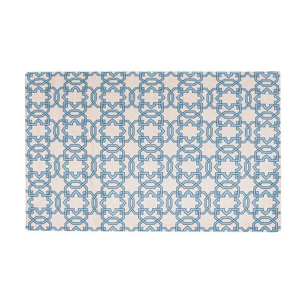 Vysokoodolný kuchynský koberec Tiles Blue, 60x220 cm