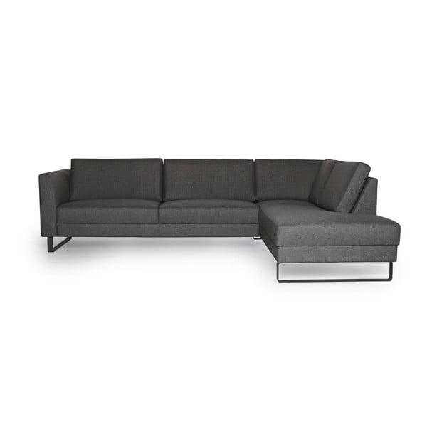 Geneve antraciszürke kanapé, jobb oldali kivitel - Softnord