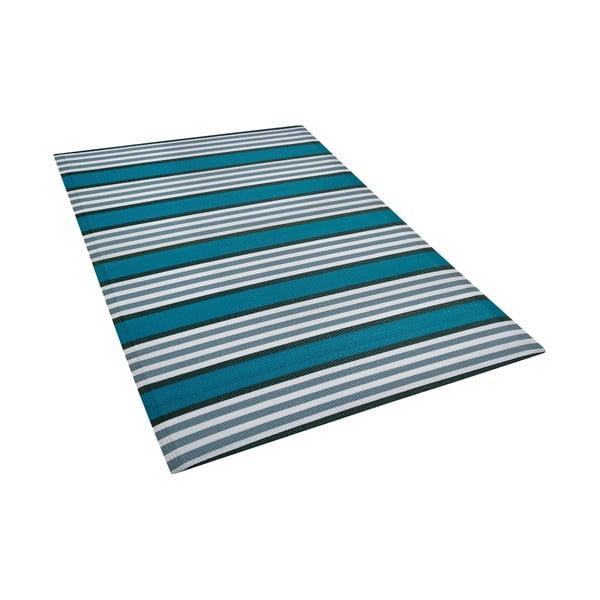 Modro-šedý venkovní koberec Monobeli Duro, 120 x 180 cm