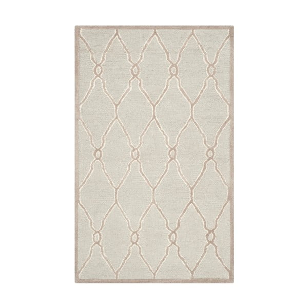 Vlněný koberec Augusta 91x152 cm, krémový