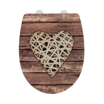 Capac WC cu finisaj lucios Wenko Curly Heart, 45 x 36,5 cm imagine