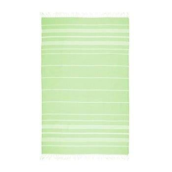 Prosop de plajă Kate Louise Cotton Collection Classic, 100 x 180 cm, verde de la Kate Louise