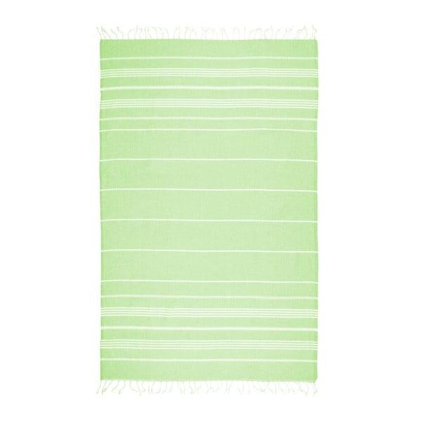 Cotton Collection Classic Neon Green zöld pamut keverék fürdőlepedő, 100 x 180 cm - Kate Louise