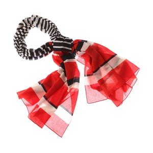 Šátek Nautical Stripe Red, 180x50 cm