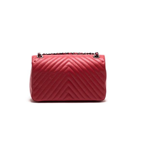 Kožená kabelka Anna Luchini 2118 Rosso