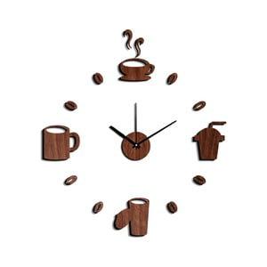 Ceas de perete autocolant Mauro Ferretti Coffee, ⌀ 60 cm