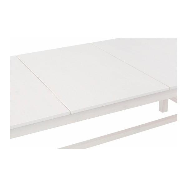 Bílý rozkládací jídelní stůl z borovicového dřeva Støraa Randy, 90x180cm