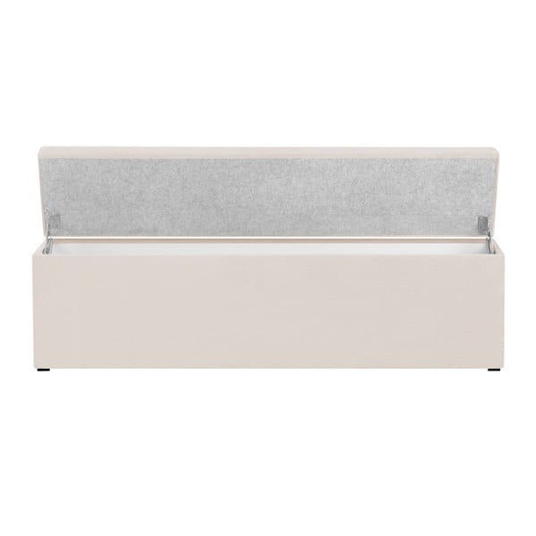 Krémově bílá lavice s úložným prostorem Cosmopolitan Design Los Angeles, šířka 140cm