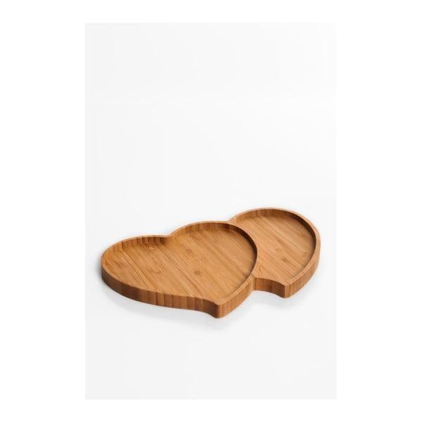 Półmisek do serwowania w kształcie serca Bambum Amor, 28x18 cm