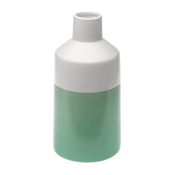Bielo-zelená váza Versa Ceramic
