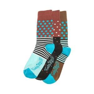 Sada 3 párů ponožek Funky Steps Iris, univerzální velikost
