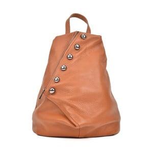 Koňakově hnědý kožený batoh Luisa Vannini Desiree